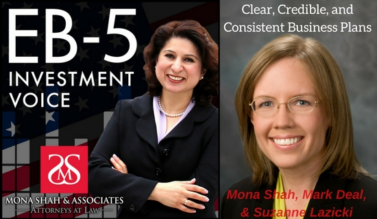 Clear, Credible & Consistent EB-5 Business Plans with Suzanne Lazicki