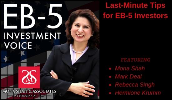 Last-Minute Tips for EB-5 Investors