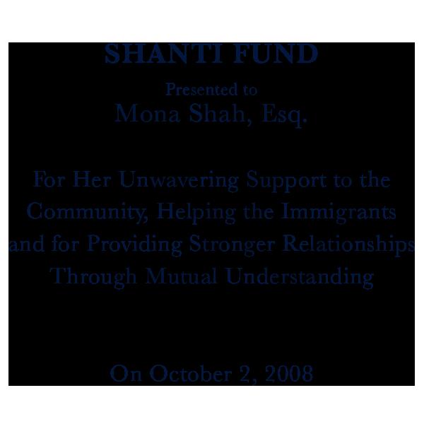 Shanti Fund Award