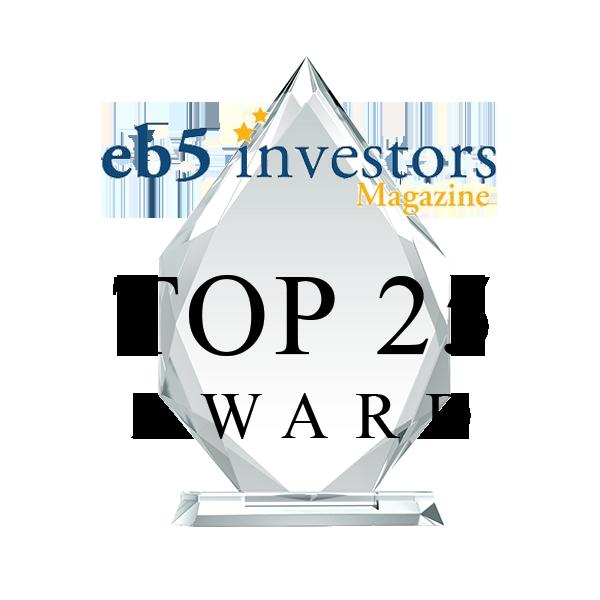 EB5 Investors Magazine top 25 award