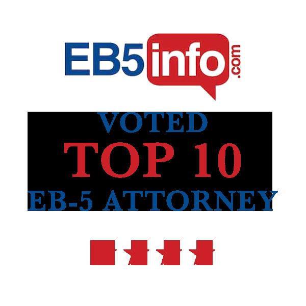 EB5 Info voted Top 10 EB-5 Attorney
