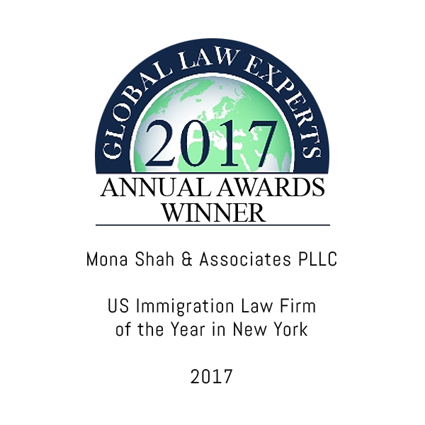 Global Law Experts - Immigration Law Firm of the Year 2017