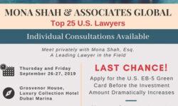 TOP 25 U.S. LAWYER CONSULTATION - DUBAI